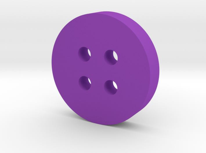 Round Angled Button 3d printed
