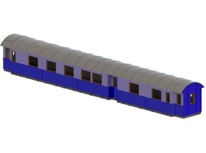 Ao3 - Swedish passenger wagon 3d printed CAD-model