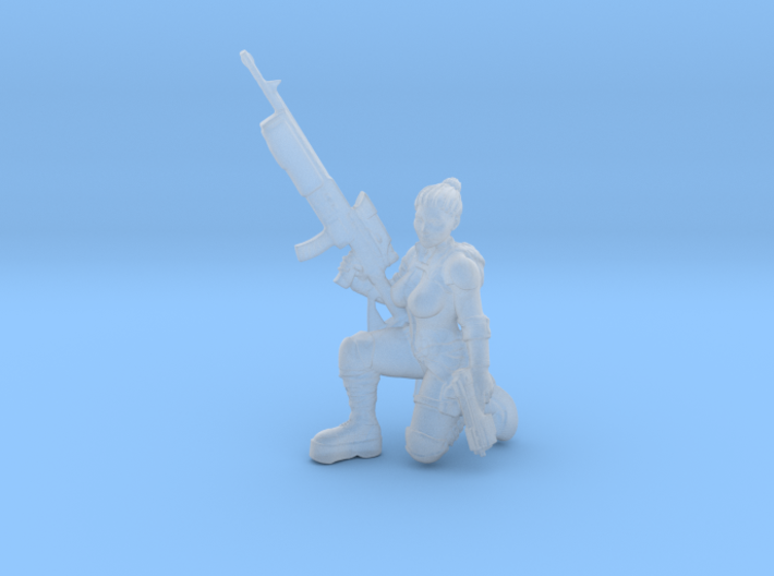 Female Enginner w Sniper (Terran - GBF) 3d printed