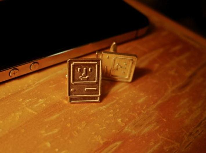 Happy Computer Cufflinks 3d printed