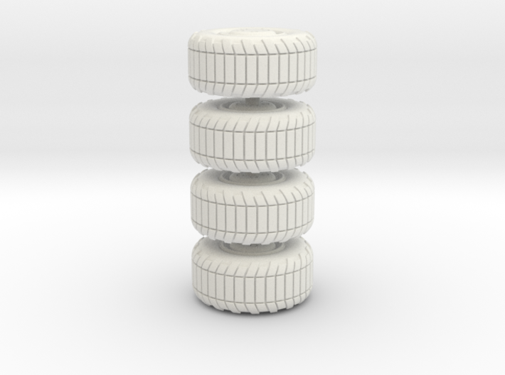 Wheel x4, 28mm, 1/35, 3d printed