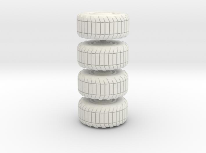 Wheel x4, 28mm, 1/35, 3d printed