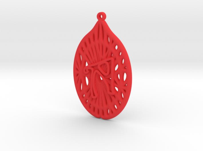 Personalised Voronoi Catenoid Curve Earring (001c) 3d printed Personalised Voronoi Catenoid Curve Earring (001c)