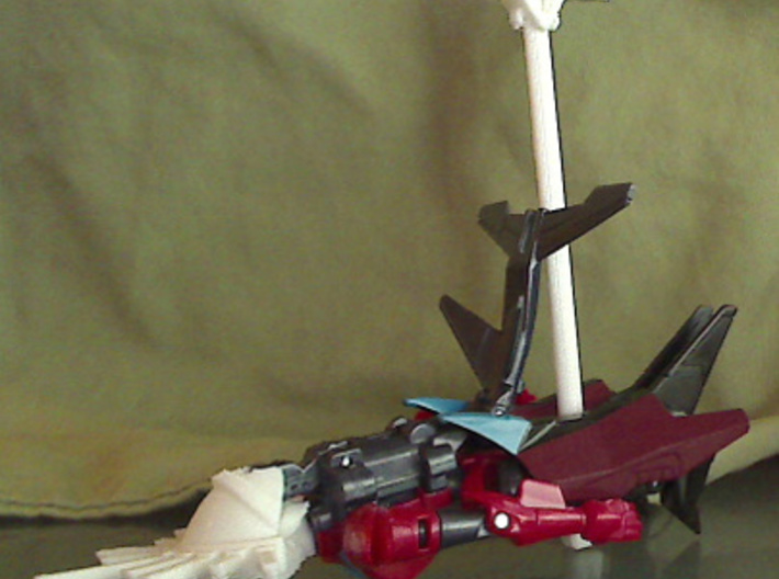 Mistress of Flame back armor 3d printed cybertronian sailboat alt mode