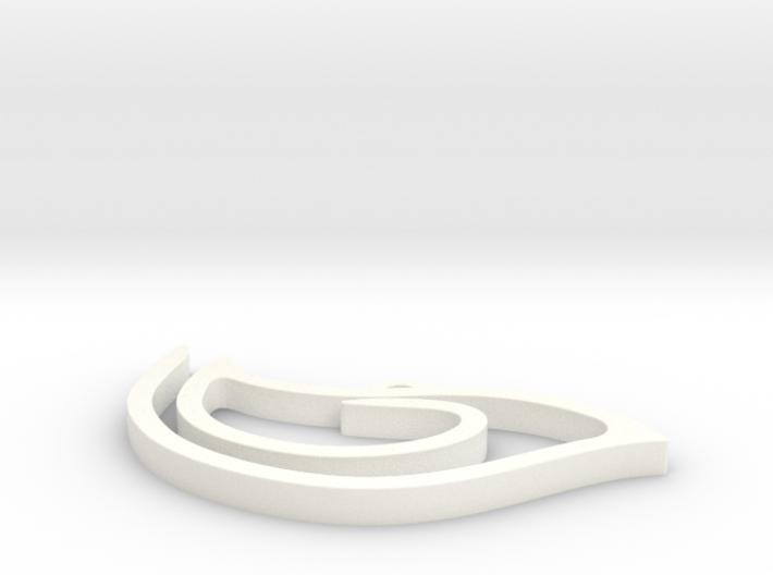 Birdy pendant 3d printed