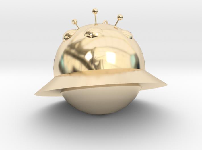 Alien ornaments 3d printed