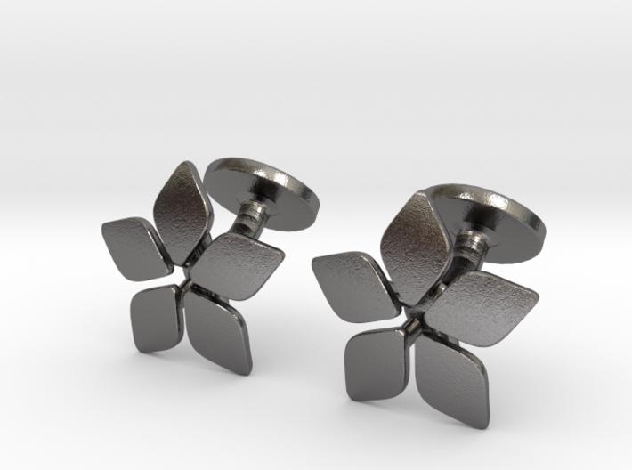 Five leafed cufflink 3d printed
