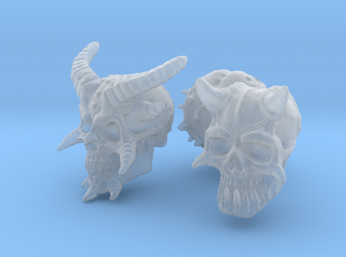 Three Skull set -Demonic and Undead 3d printed