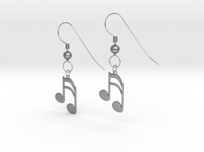 Music note earrings version 1 3d printed