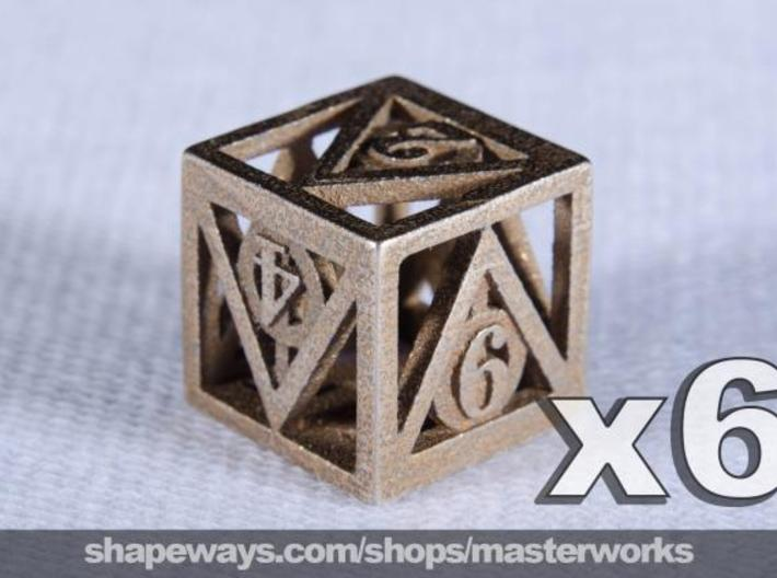 Deathly Hallows 6d6 Set 3d printed Stainless Steel