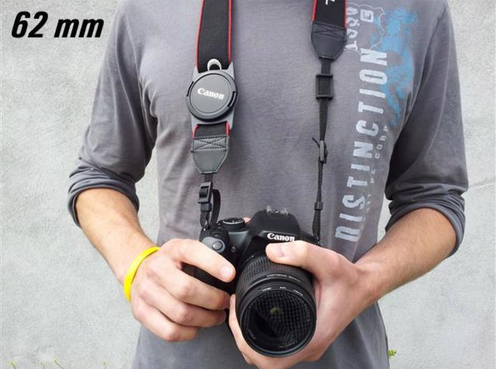 Lens Cap Holder (62mm) 3d printed Description