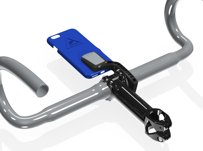 iPhone 6/6S Wahoo Mount Case - Hill Climb 3d printed The underside when attached to an Elemnt Bolt mount.