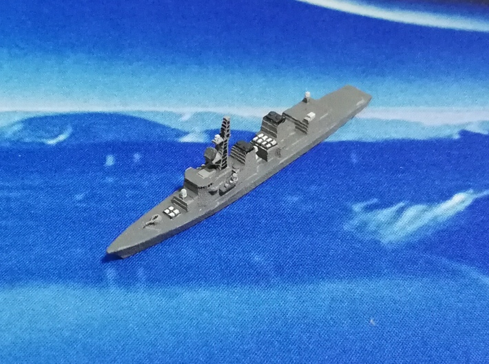 Murasame-class destroyer, 1/1800 3d printed Painted Sample