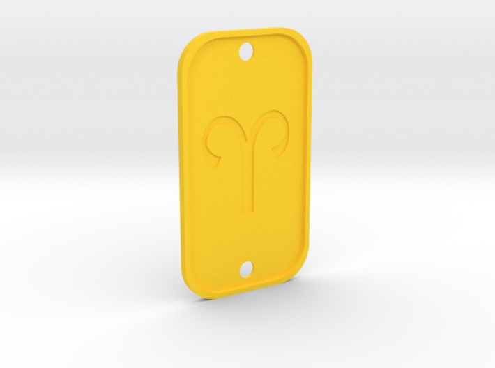 Aries (The Ram) DogTag V4 3d printed