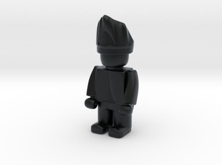 5 x British Grenadier 3d printed Example figurine wearing the shako in black Hi-Def Acrylate