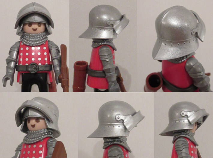 Medieval Sallet compatible with playmobil figure