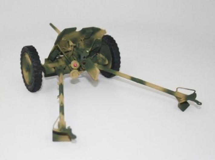 1:18 Pak 36 - 37mm German Anti-Tank Gun - v1 3d printed Painted and assembled.