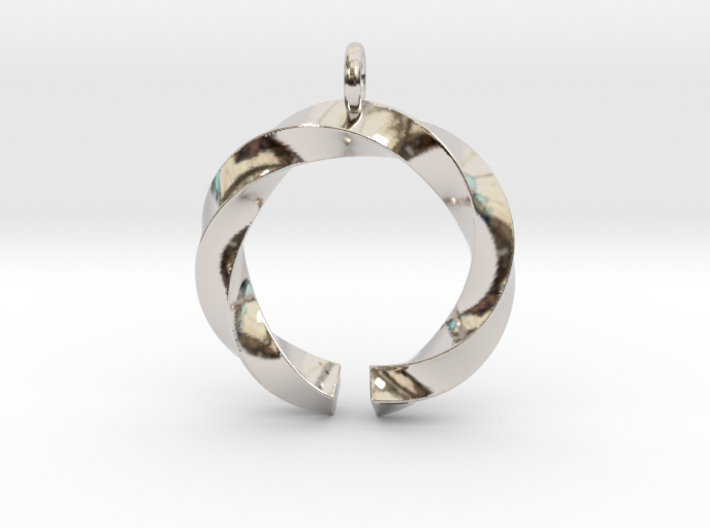 Open and twisted ring - Pendant or earrings 3d printed