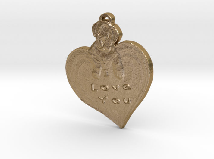 I love you with puppy 3d printed