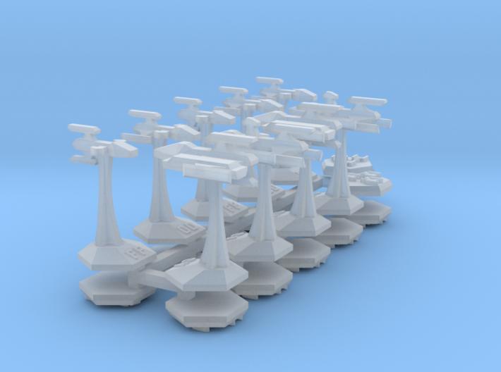 MicroFleet Kzouti Carrier Group (21 Pcs) 3d printed