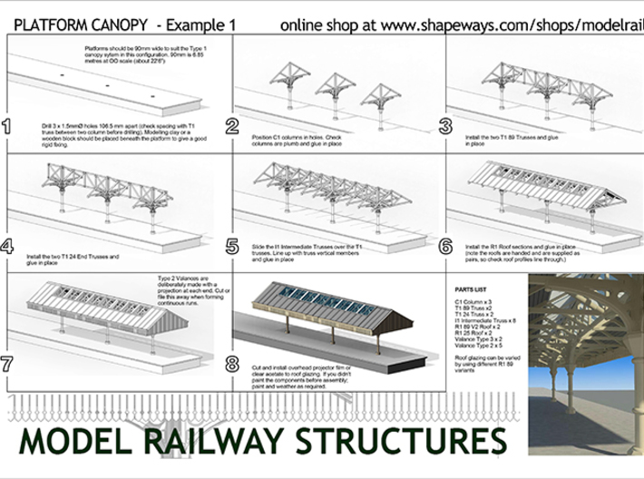 Roofs for 280mm long Canopy 3d printed Instructions (message me for a PDF)