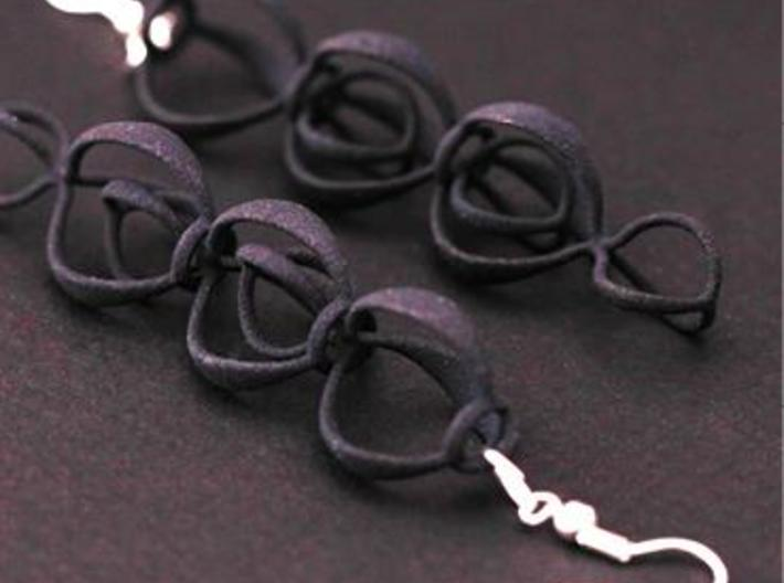 BERRIES - earrings 3d printed Black