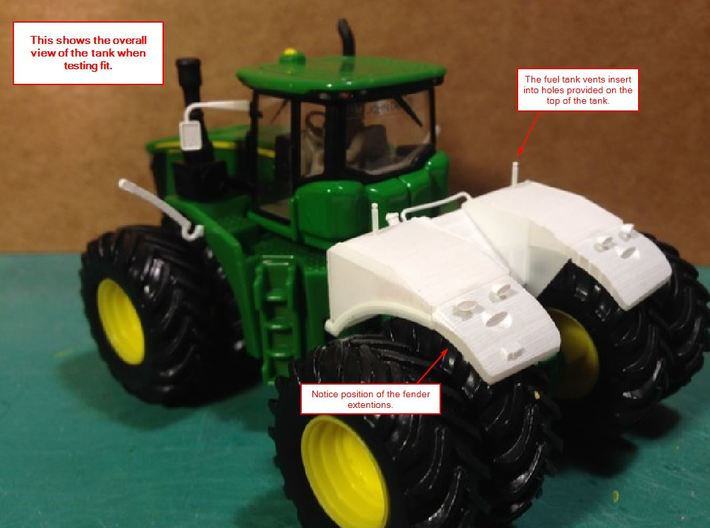 GREEN LARGE MODERN 4WD FUEL TANK KIT 3d printed
