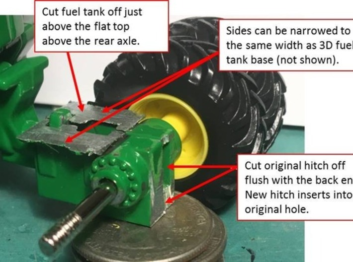(2) GREEN LARGE MODERN 4WD HITCH KITS W/ WEIGHTS 3d printed