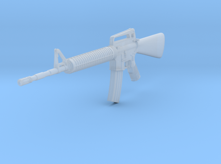 M16A2 1:24 scale 3d printed