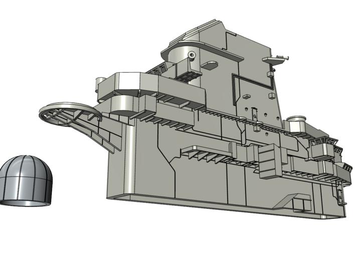 USS Lexington CVT-16 1993 Island (for Revell) 3d printed