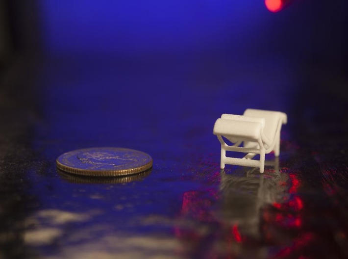 1:48 Le Corbusier Chaise Lounge LC4 Chair 3d printed