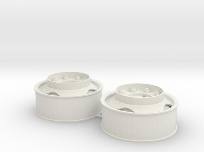 Voorwielen velgen 40x16 met driehoekgat en opstapr 3d printed