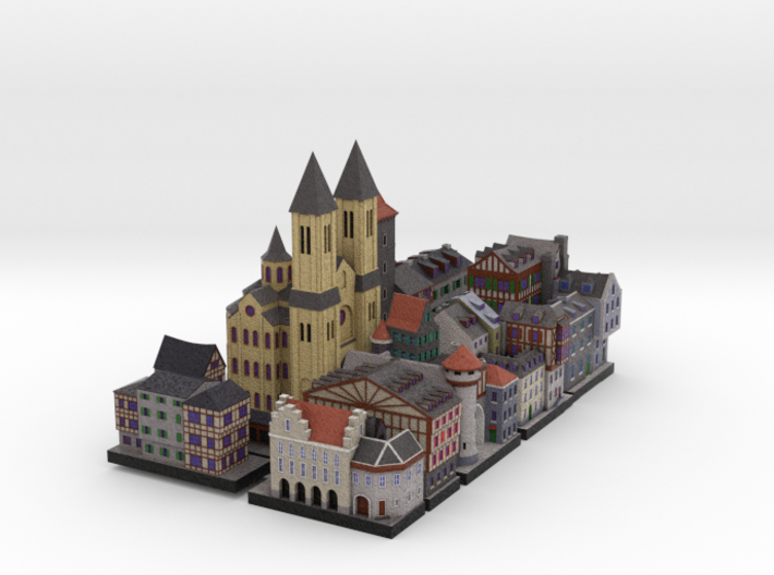 Medieval Village set 3d printed