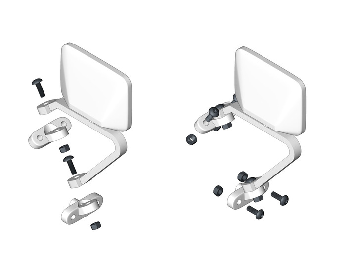 RCN087 Mirrors for Ford F150 79 P-L 3d printed