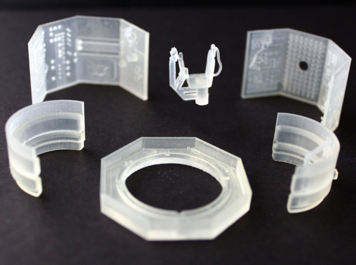 YT1300 TURRET WELL MPC 3d printed Millennium Falcon turret well six parts kit to be assembled easily.