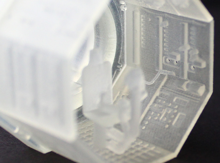 YT1300 TURRET WELL MPC 3d printed Millennium Falcon turret well highly detailed.