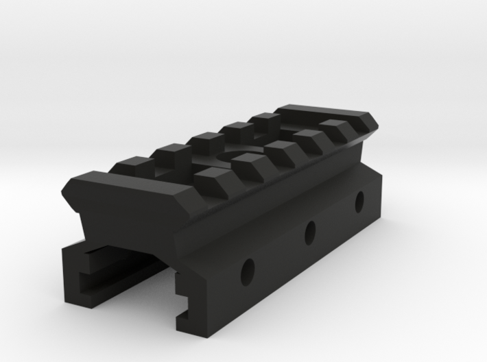 Nerf to Picatinny Adapter (6 Slots) 3d printed