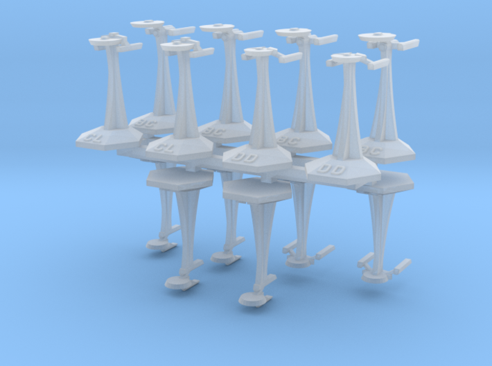 MicroFleet TMP Coalition Fast Attack Group (14pcs) 3d printed