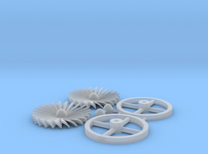 1:6th scale Panther Exhaust Turbine 3d printed