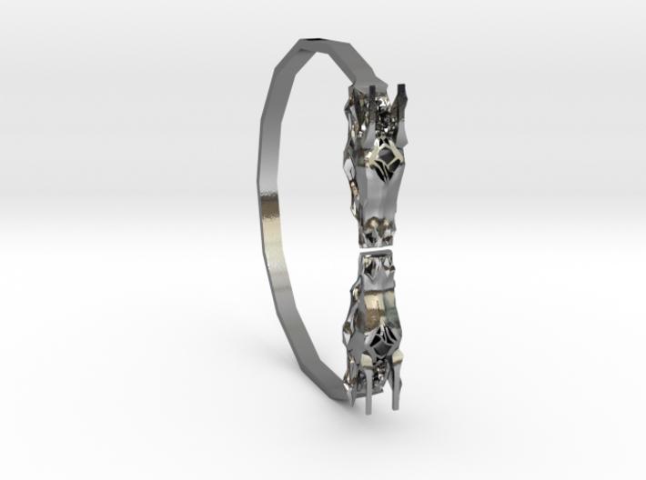 Geometric Dragon Bracelet 3d printed