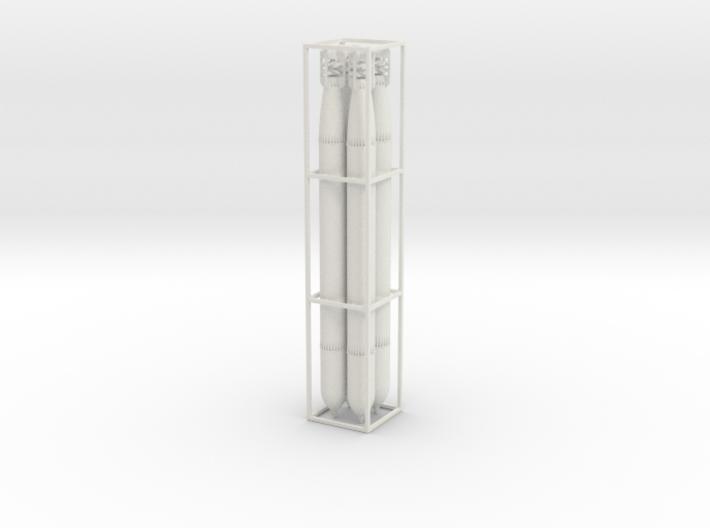 4 G7a Torpedos scale 1:50 aus einem Teil 3d printed