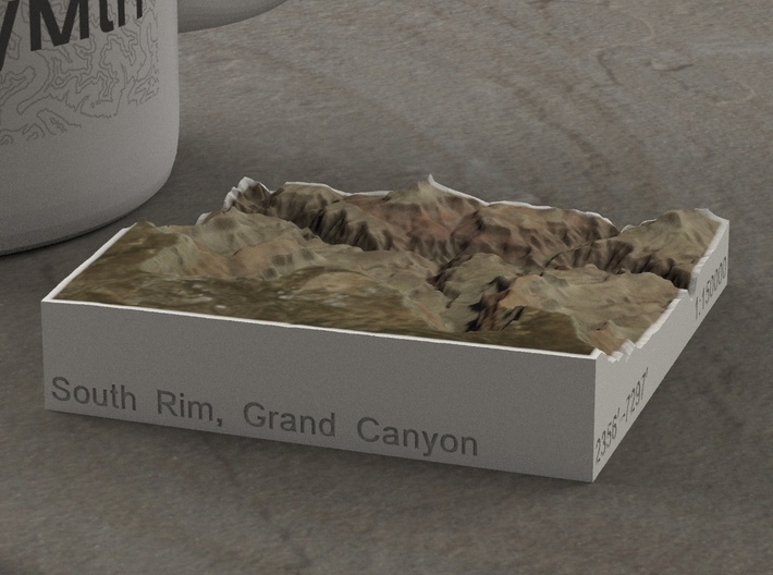 South Rim Grand Canyon, Arizona, 1:150000 Explorer 3d printed