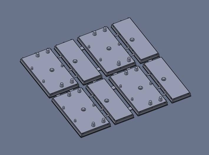 HO Norfolk Southern PTC Antenna Early 4-PC 3d printed