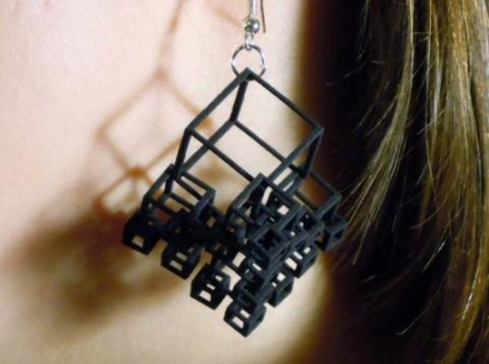 1+4+4×4 Cubes Earrings 3d printed (BSF)