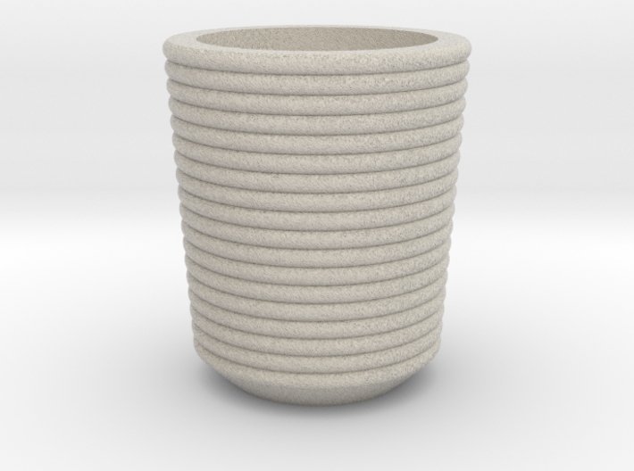 Shot glass 6 Curved surface(Porcelian) 3d printed