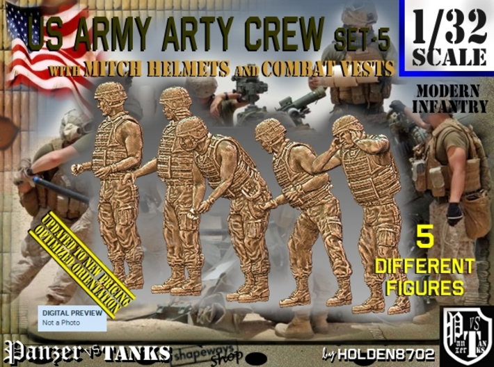 1/32 US Arty Crew Hot Weather Set5 3d printed
