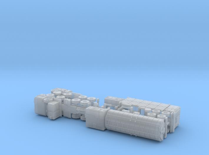BGM-109G Gryphon GLCM TEL & LCC 1/285 3d printed