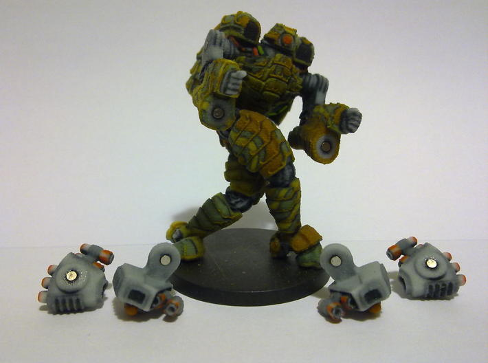 Mech suit with missile pods (11) 3d printed Magnets