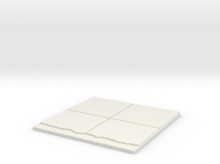 2x2_walldrop 3d printed