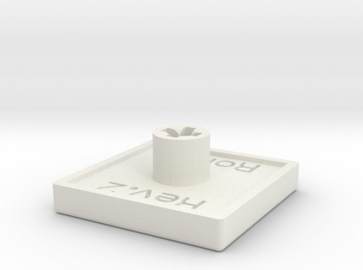 Flat Concave Keycap 3d printed